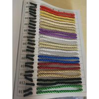 2 metal tips gold 3 strand rope for bag handle