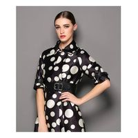 Polka dot dress coat dust coat