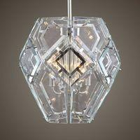 """NOORVIK 16"""" MODERN GEOMETRIC GLASS HANGING PENDANT LIGHT CHANDELIER UTTERMOST"""