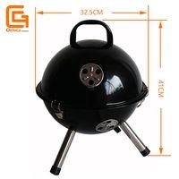 Tabletop Portable Football Design Mini Barbecue Ball Shaped Bbq Charcoal Round Mini Grills
