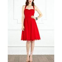 A Line Chiffon Bridesmaid Dress Ruffled Lace Bridesmaid Gown thumbnail image