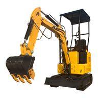 1 ton digging machinery excavator garden hydraulic crawler digger road digging tool for farm