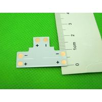 "2pin 10mm ""T"" type PCB Connector for Single Color LED Strip"