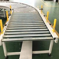 Stainless Steel Conveyor Roller Assemble Line System Carton Pallet Conveyor for Mask Supplying