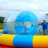 WaterRollers ZorbRamp Water Roller Inflatable Wheel Water Walker Bubble Zorb Rolling Ball thumbnail image