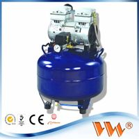 One Driving One 32L Medical Noiseless oilless Dental Air Compressor CE