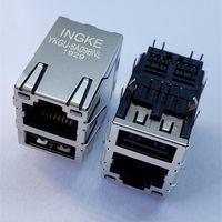 YKGU-6A09BNL=0821-1X1T-43-F Gigabit RJ45 with USB A Magnetic Modular Jacks