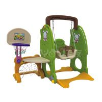 Small playground plastic slide with swing set for kids FY826404 thumbnail image