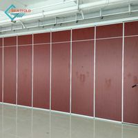 Customized recreation area wood folding partition wall thumbnail image