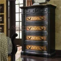 American style furniture,Solid wood carved chest of drawer