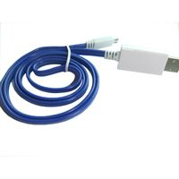 EL Visible current Flowing Lighting Micro USB 2.0 Data Sync Charging Cable Wire Line