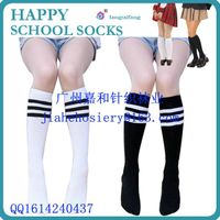 China Made Wholesale Cheap Stripe Students Socks