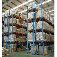 Blue / Orange  Logistic Central Logistic Central Heavy Duty Pallet Racking System Customized