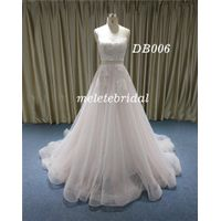 Backless Sweetheart Neckline Wedding Dress A Line with Samll Trail Bridal Gown thumbnail image