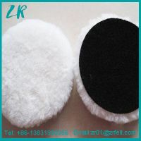 6 Inch Lambs Wool Hook and Loop Polishing Pad