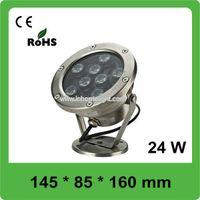 Multi Function IP68 RGB 2640 LM LED Underwater Lights with Stainless Steel Housing