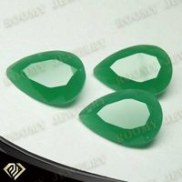 synthetic malay jade glass pear shape