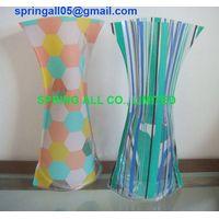 PVC foldable Vase,folding vase , measure 27*14cm