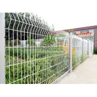 Welded Wire Panel Fence With Peach Post thumbnail image