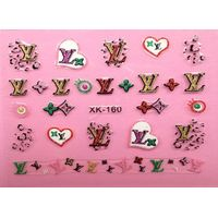 Decorative lovely glitterring nail sticker non toxic for women