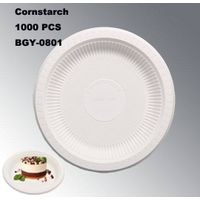 BGY-0801 Plate degradable high quality cornstarch tableware thumbnail image