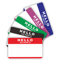 Minrui Hot Sale Hello my name is sticker eggshell for graffiti