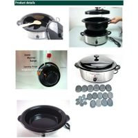 Deluxe professional Hot stone bowl,hot massage stone heater with CE RoHS thumbnail image