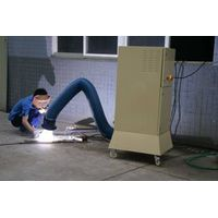 Metal welding fume exhaustor with electrostatic filter
