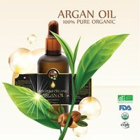 100% Bio certified Organic Argan oil in glass bottle with dropper: thumbnail image