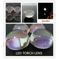 23mm diameter glass led torch lens narrow beam 10 degree