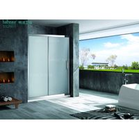 Stainless Steel Shower Screen with Single Sliding Door