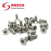 SS304 stainless steel countersunk head pin-in torx anti-theft CNC machine screw thumbnail image