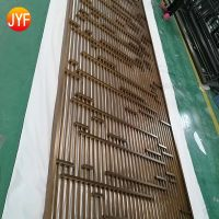 Foshan Manufactoryinterior decorating stainless steel partition wall sliding room divider