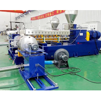 New design PVC PE plastic granules twin screw extruder/plastic pellet making machine