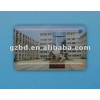 4C offset printing with special drip gum PVC tag with 30*48mm