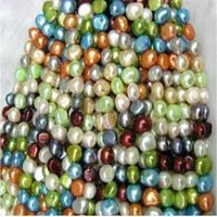 16 inches 7-8mm Multicolor Smooth on Both Sides Loose Pearls Strand