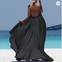 Boho Maxi Dress Women Spaghetti Strap Backless Long Dress 2021 Sexy Summer Party Bohemian Beach Dres thumbnail image