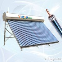 Vision Solar manufacturing pressurized full stainless steel solar water heater