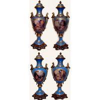 Sevres Porcelain Vase Pair