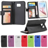 Wallet Leather Case W/ ID Credit Card Holder Pocket PU Filp Stand For Galaxy S6 SGS6C16 thumbnail image