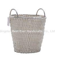 Large Cotton Rope Basket Baby Laundry BasketStorage Basket Cotton Rope Round Woven Bin Organizer Bla