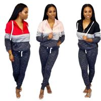 Sweetsuits women two piece tracksuit jogging suit 100% cotton with v neck for women's track suit thumbnail image