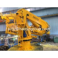 hydraulic telescopic knuckle boom ship crane