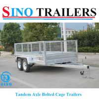 10X6 Hot Dipped Galvanized Tandem Axle Bolted Cage Box Trailer thumbnail image