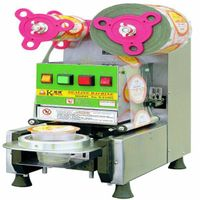 plc track low power high output sealer machine for coffee cup