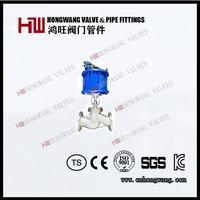 China Factory Full Bore Flange Pneumatic Globe Valve