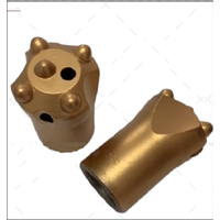 Tapered button bit 5 button rock drilling tools for shank size 22108 mm drilling