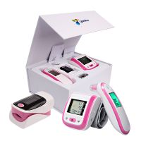 Infrared Ear / Forehead Thermometer Blood Pressure Monitor Fingertip Pulse Oximeter with Gift Box