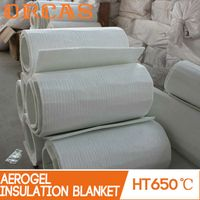Non conductive heat resistant material aerogel insulation blanket