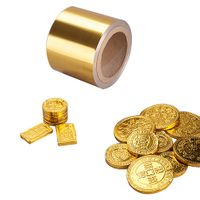 8011 o gold aluminium foil for chocolate coins wrapping thumbnail image